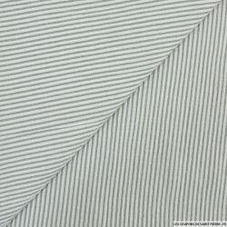 Seersucker rayures gris