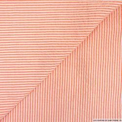 Seersucker rayures orange