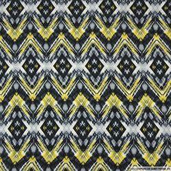 Microfibre imprimée peinture en extérieur jaune et noir
