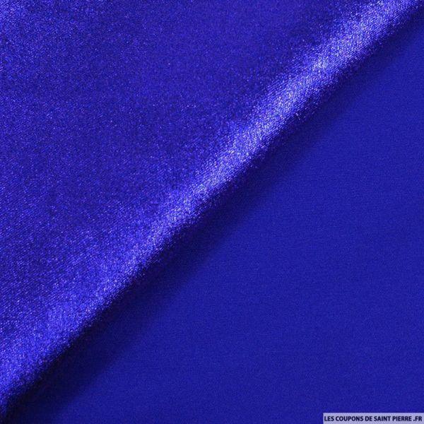 Lamé polyviscose bleu