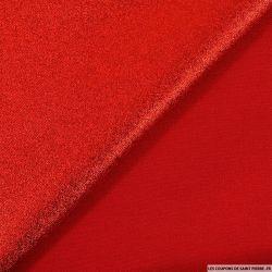 Lamé polyviscose rouge