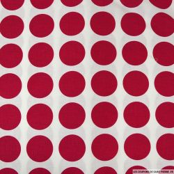Coton Gütermann imprimé gros pois rouge framboise
