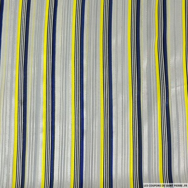 Mousseline rayée irisé racing polyester