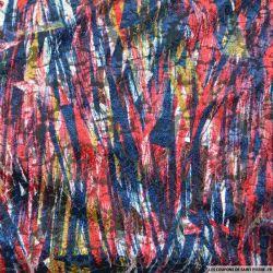 Velours dévoré polyester expressif