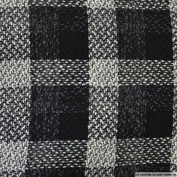 Tweed à carreaux noir et blanc