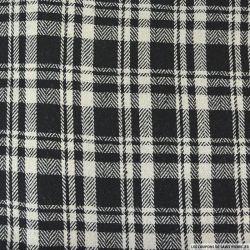 Lainage à carreaux gris beige fond noir