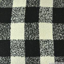 Lainage à carreaux noir et blanc cassé