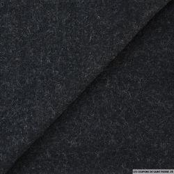 Caban chiné polyester bleu nuit