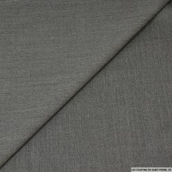 Tissu Tailleur laine mélangée gris acier