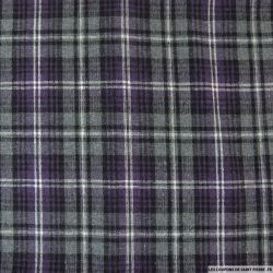 Clan polyester gris, blanc et violet