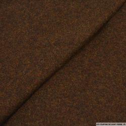 Velours de laine chinée brou de noix
