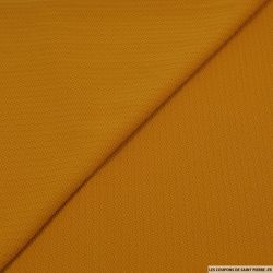 Jersey polyester texturé moutarde