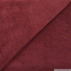 Tissu éponge bambou bordeaux vendu au mètre