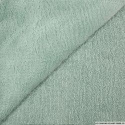 Tissu éponge bambou menthe vendu au mètre