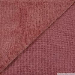 Tissu éponge bambou dark pink vendu au mètre