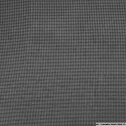 Voile coton petits carreaux gris anthracite