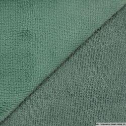 Tissu éponge bambou vieux vert vendu au mètre
