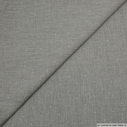 Tissu tête d'épingle gris étain