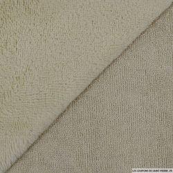 Tissu éponge bambou beige vendu au mètre