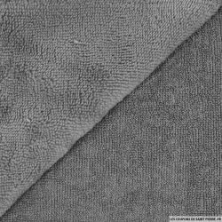 Tissu éponge bambou gris clair vendu au mètre