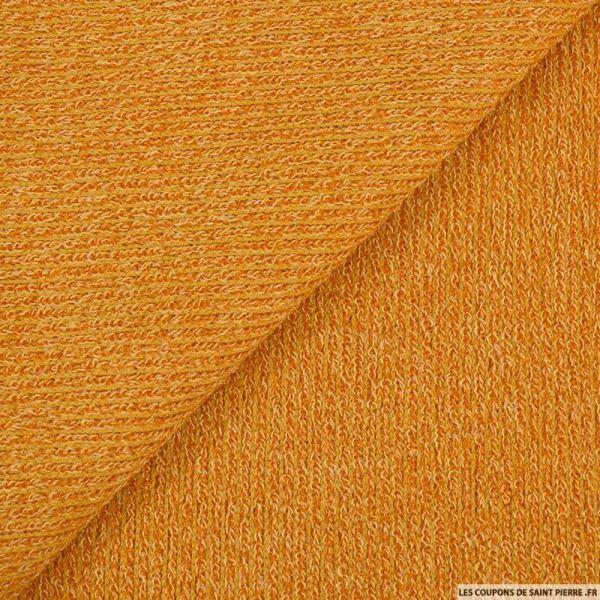Maille tricot orange