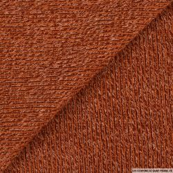 Maille tricot terracotta