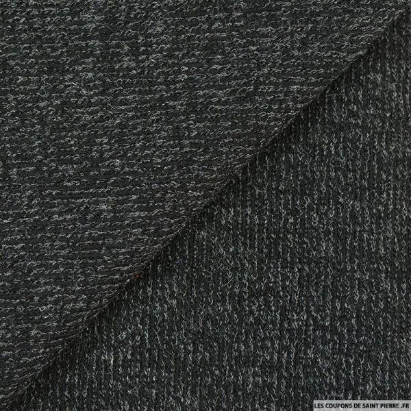 Maille tricot noir