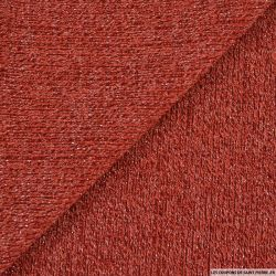 Maille tricot lurex tomette