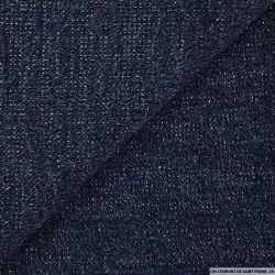 Maille tricot lurex bleu