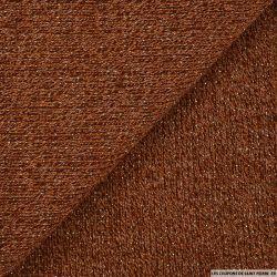 Maille tricot lurex marron