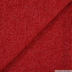 Maille tricot lurex rouge
