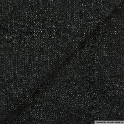 Maille tricot lurex noir