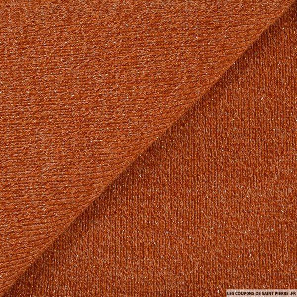 Maille tricot lurex terracotta