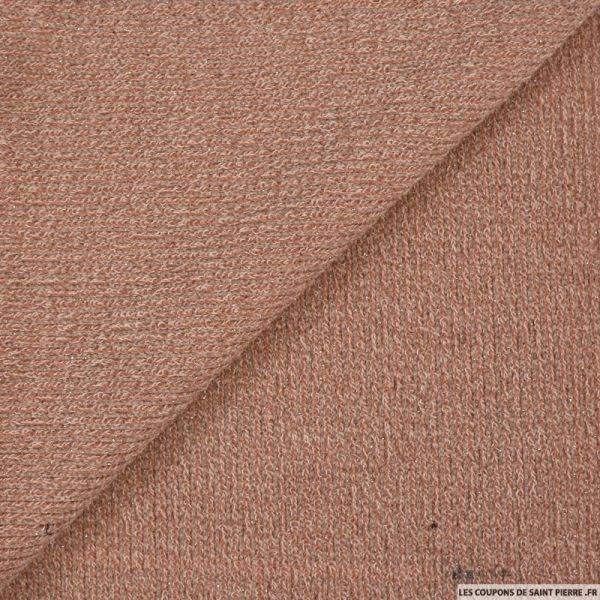 Maille tricot lurex rose