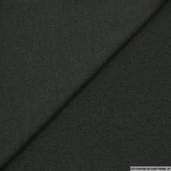 Maille lurex ajourée noir