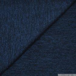 Maille lurex ajourée bleu