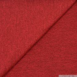 Maille lurex ajourée rouge