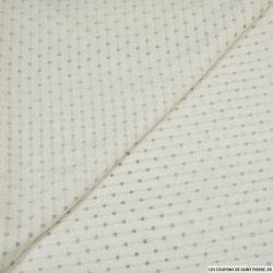 Maille lurex ajourée blanc