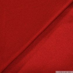 Crêpe viscose rouge brillant