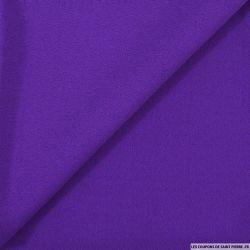 Crêpe envers satin violet mat