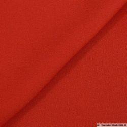 Crêpe viscose rouge vermeille mat