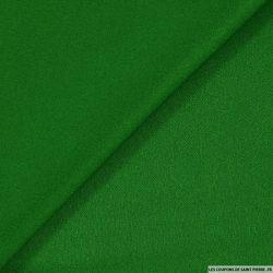 Crêpe envers satin vert brillant