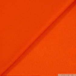 Crêpe viscose orange brillant