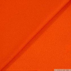 Crêpe envers satin orange brillant