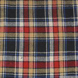 Clan polyester noir, jaune, rouge et écru