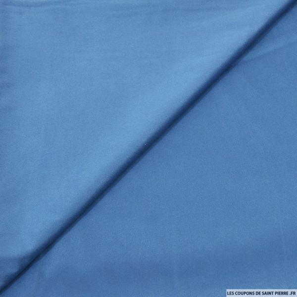 Tissu effet daim double-face bleu denim