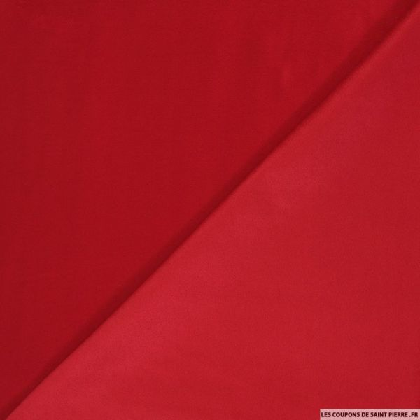 Tissu aspect daim double-face rouge