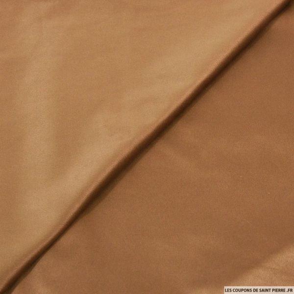 Tissu effet daim double-face brun beige