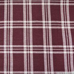 Flanelle polyester à carreaux lie de vin