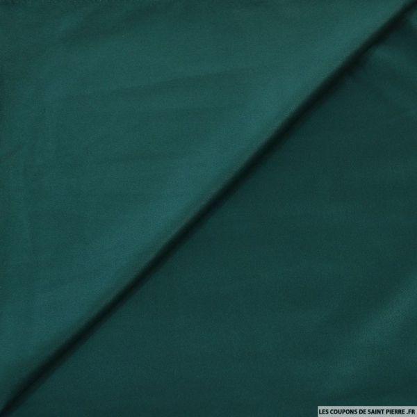 Tissu effet daim double-face vert émeraude
